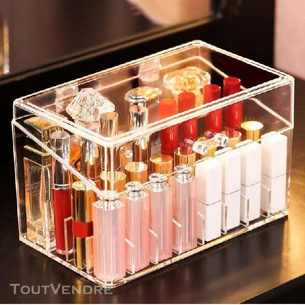 Transparent cosmetiques boîte de rangement maquillage
