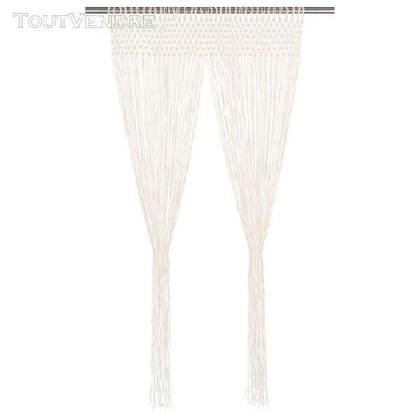 Vidaxl rideau 140x240 cm coton