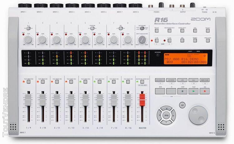 Zoom r16 - enregistreur16 pistes sur carte sd / controleur /