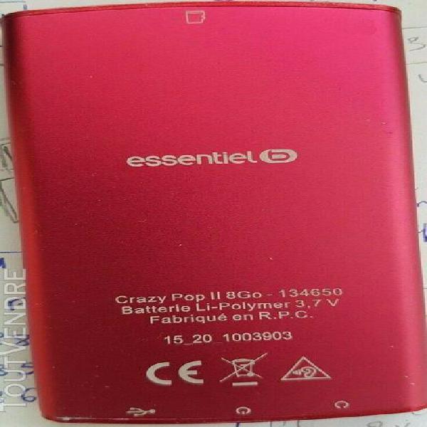 Baladeur mp3 pave tactile couleur rouge essentiel b 8 go