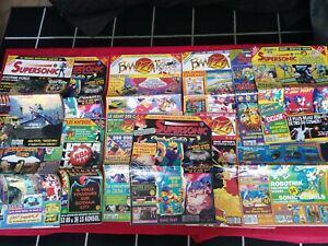 Lot 12 magazines vintage jeux vidéo banzai supersonic