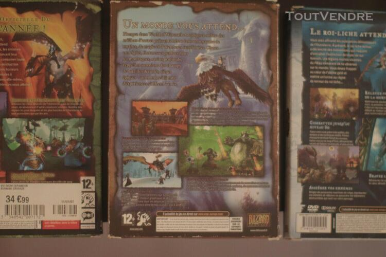 Lot: 3 jeux videos world of warcraft pc wow classic +  burn