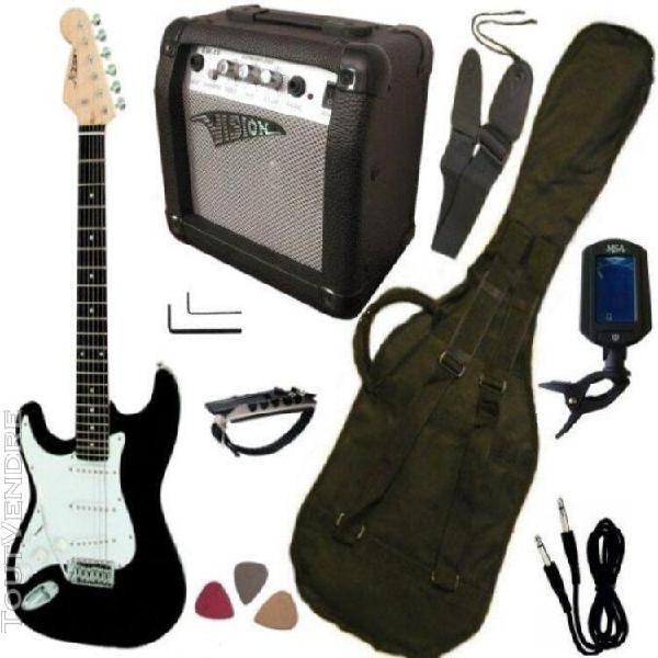 Pack guitare electrique gaucher,ampli15w, accordeur
