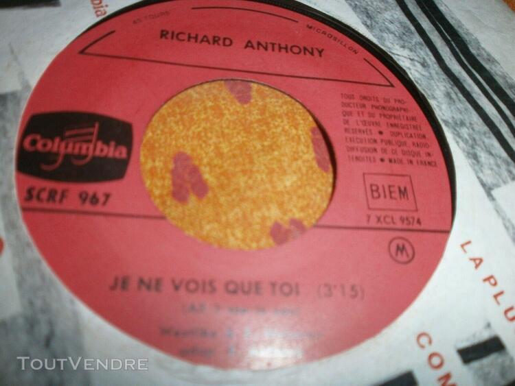 richard anthony sunny / je ne vois que toi scrf 967 juke box