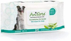 Aniforte lot de 100 lingettes désodorisantes pour chien