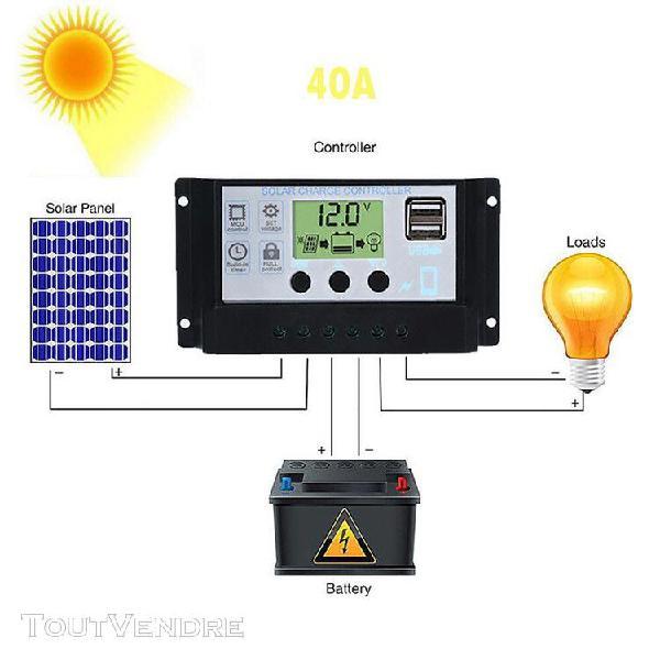 2019 régulateur contrôleur de charge panneau solaire usb