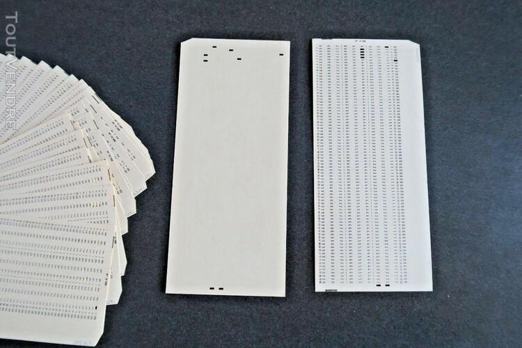 36 cartes perforées - informatique 80 colonnes - 35 vintage