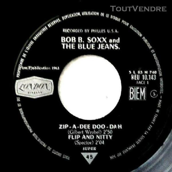 Bob b. soxx & the blue jeans ep de 1963 ex++ zip.a.dee doo d