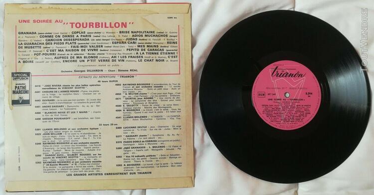 Disque vinyles 33 tours, 25 centimètres, tourbillon