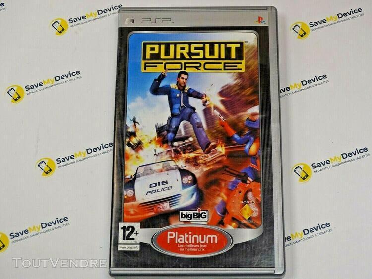 Jeu video pursuit force pour sony playstation psp occasion