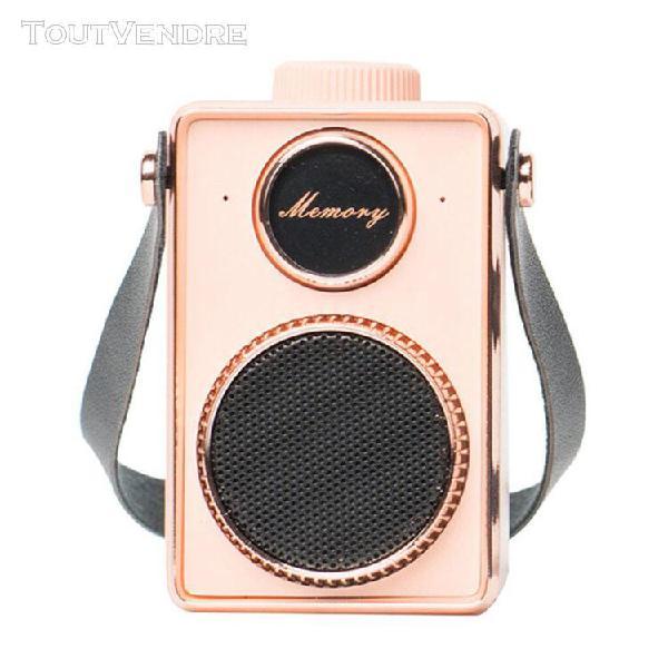 Mini portable creative audio retro wireless audio subwoofer