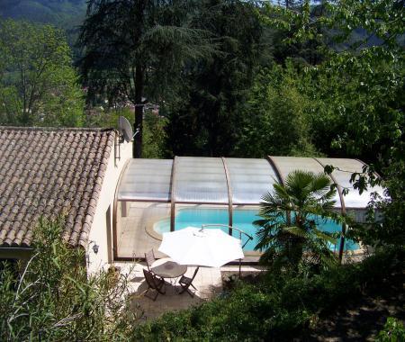 Villa avec piscine couverte en cévennes, 6/8 pers. -