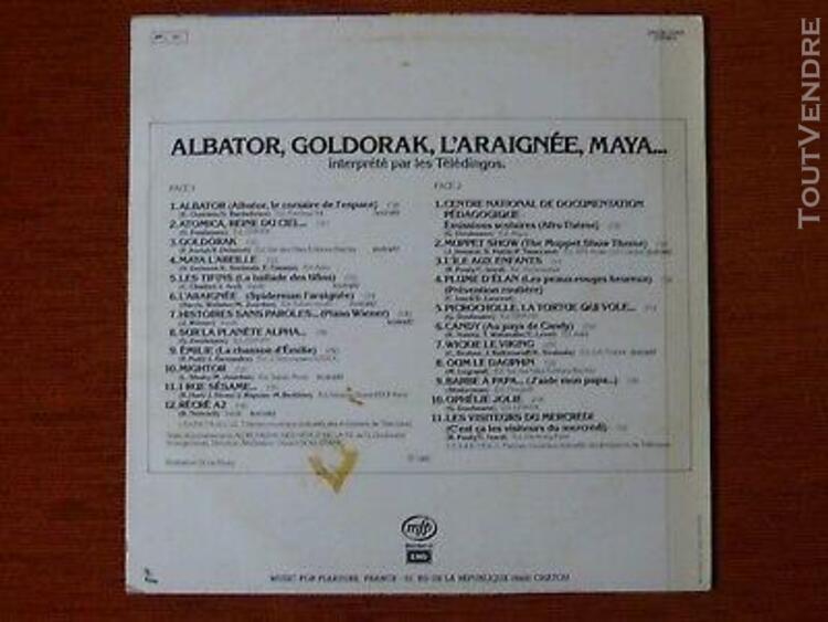 33t les teledingos albator, goldorak, l'araignee, maya, migh