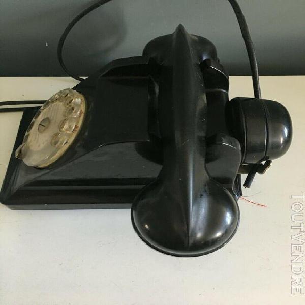 Ancien telephone noir bakelite