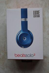 Boîte casque beats solo2 édition de luxe bleu + pochette