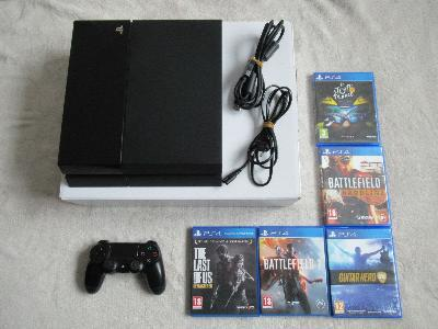 Console sony playstation 4 complet + 5 jeux (pal)