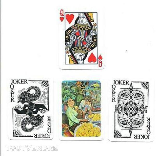 Jeux de 52 cartes de bridge publicitaire daun terup