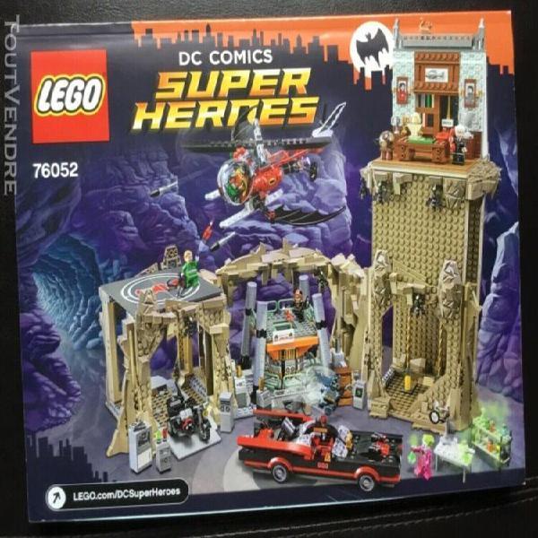 Lego 76052 manuel d'instructions batcave, pas de briques.