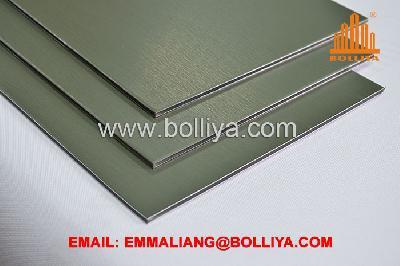 Panneau en zinc-titane composite pour revêtement de façade