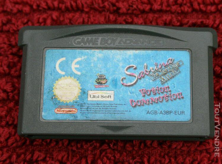 Sabrina the teenage witch nintendo game boy advance gba game