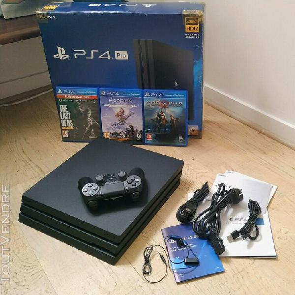 Sony playstation 4 pro 1tb 4k - jet black(excellent état)