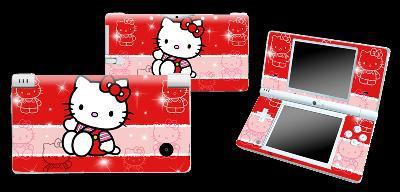 Stickers pour nintendo ds lite ou dsi hello kitty rouge,