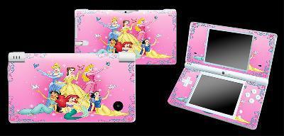 Stickers pour nintendo dsi princesses disney, 2 modèles,