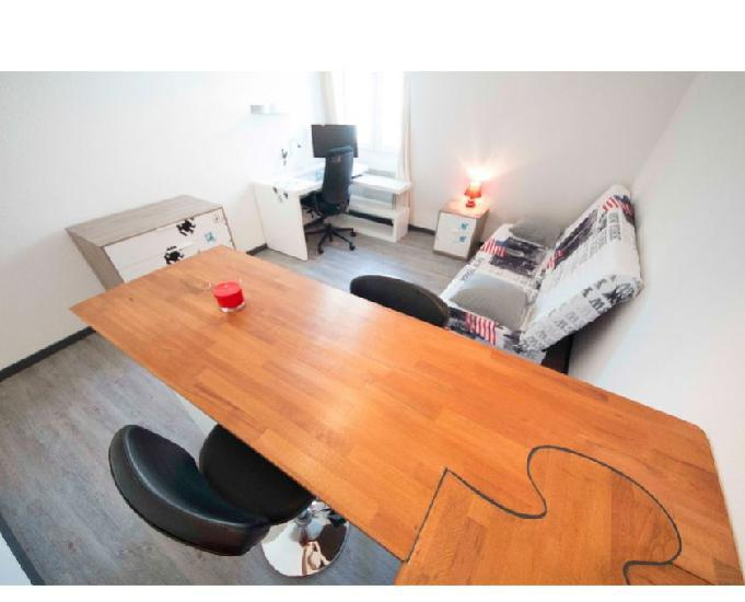 Studio meuble 23m2 – mulhouse hyper-centre – res.