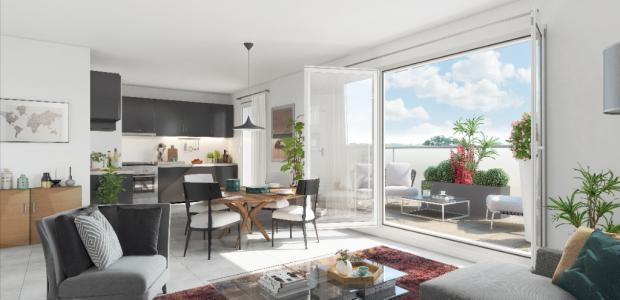 Appartement à vendre montpellier 4 pièces 91 m2 herault