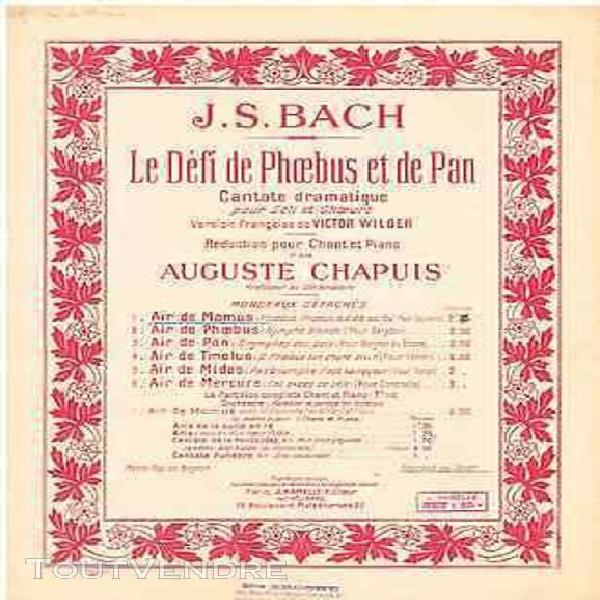 Bach le défi de phœbus et de pan air de momus partition
