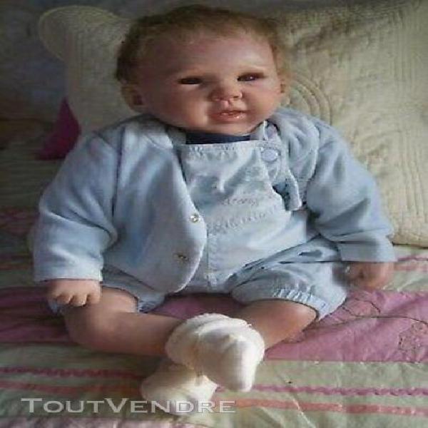 Bébé garçon reborn liam 53cm en bleu