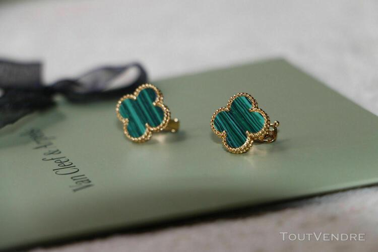 Boucles d'oreilles magic alhambra van cleef & arpels or jaun