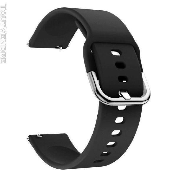 Bracelets de montre en silicone souple de remplacement pour