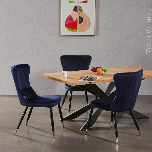 Ensemble table à manger chêne 4 à 6 personnes + 4 chaises