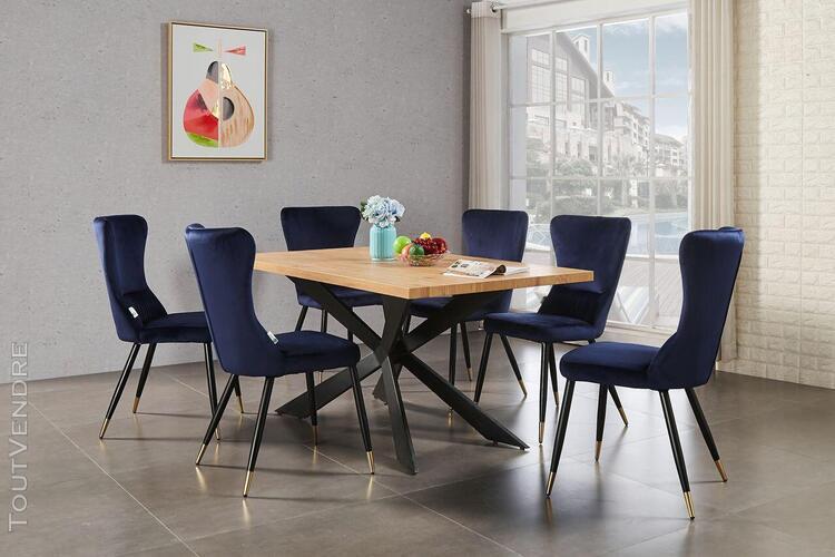 Ensemble table à manger chêne 4 à 6 personnes + 6 chaises