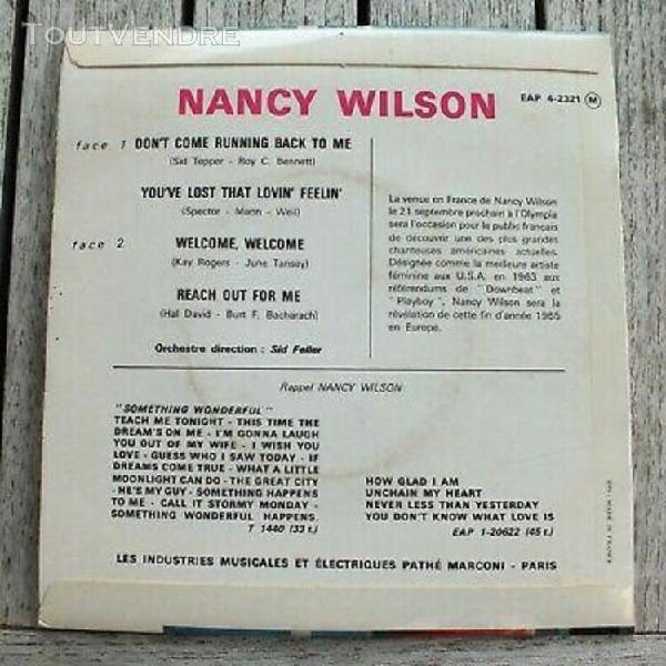 """Ep - nancy wilson - """"don't come running back to me"""" -"""