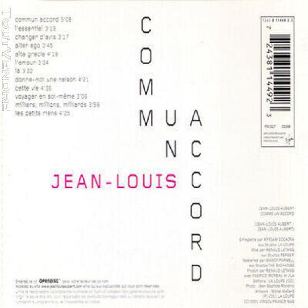 Jean-louis aubert comme un accord eu press virgin 2001 cd