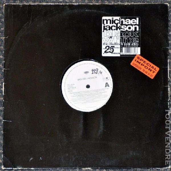 Maxi 45t michael jackson - black or white