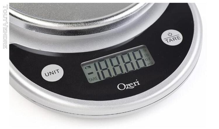Pronto digital multifunction kitchen and food scale, black