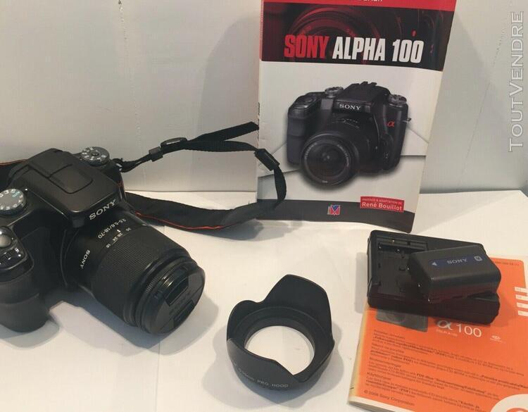 Sony alpha a100 10.2mp digital dslr camera black objectif zo