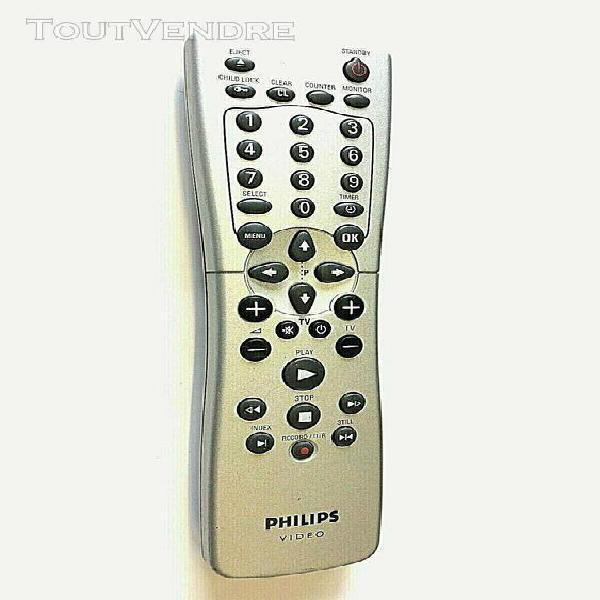 Télécommande original philips rt 25189/104 pour tv vcr