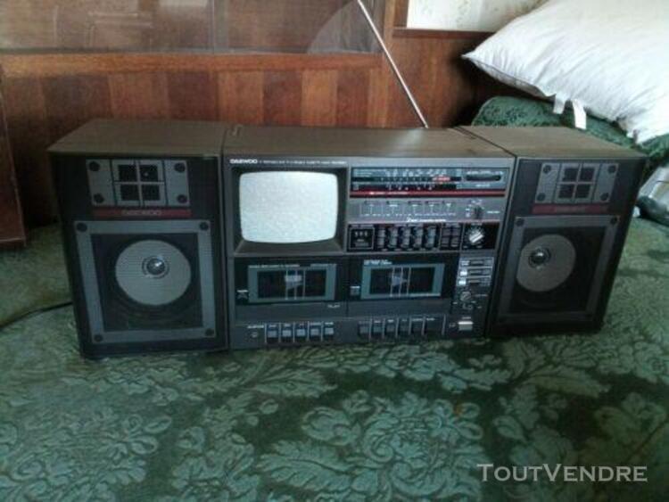 Vintage radio cassette stereo tape player tv daewoo av 310 8