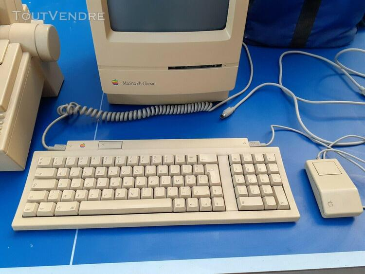 Apple 2 macintosh m0420 classic 1990 + imprimante