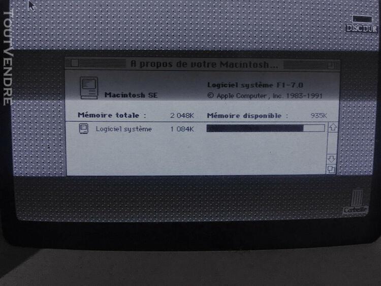 Apple macintosh se fdhd m5011, rare 1987/88 early modèle av