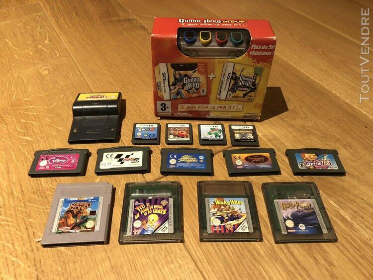 Lot jeux retro gaming gamecube wii gameboy classic/color/adv