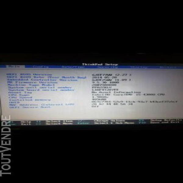 Ordinateur portable lenovo 14 pouce thinkpad t440 intel core