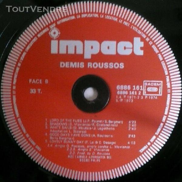 3xlp demis roussos coffret 3 disques impact 1975 france chan