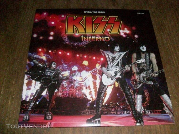 Kiss inferno rare double pictures