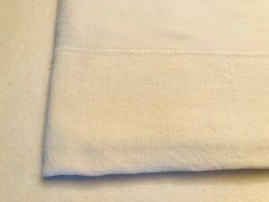 Nappe ancienne en lin et coton blanc ou cache sommier ou