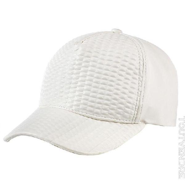 Sports de plein air de baseball en casquette cuir crème